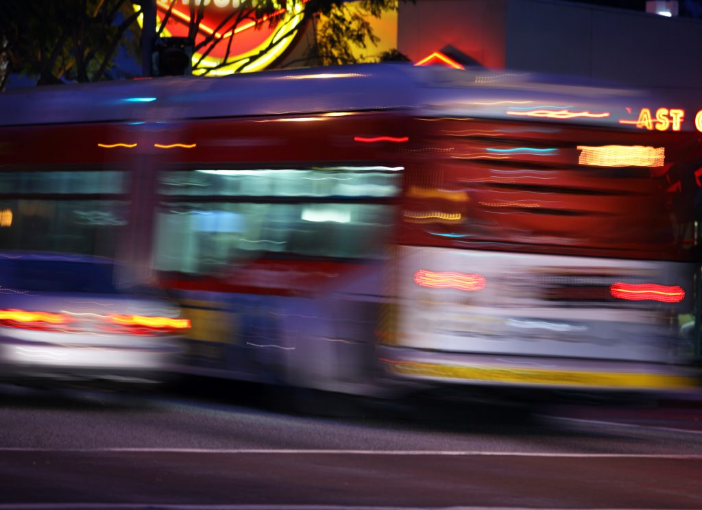 Traffic In LA, Blurred Motion